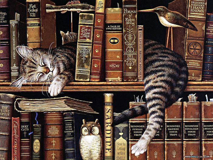Charles Wysocki Cat Tales Cats Cat Art Cat Painting