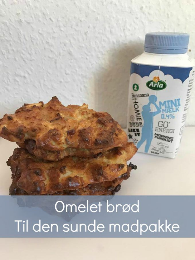 Indlægget er sponseret af skolemælk   Idag vil jeg dele en skøn opskrift med jer på lækre sprøde mini omelet-brød til madpakken. Du kan bruge alle slags grøntsager og variere mængderne som du syntes.  Til Ca. 6 stk skal du bruge:   1 æg  1/2 dl mel  1/2 dl mælk  1 lille steg....