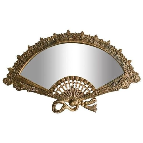 Victorian Fan Brass Vanity Mirror (13,030 INR) ❤ liked on Polyvore featuring home, home decor, mirrors, scroll mirror, brass home decor, brass makeup mirror, standing vanity mirror and brass vanity mirror