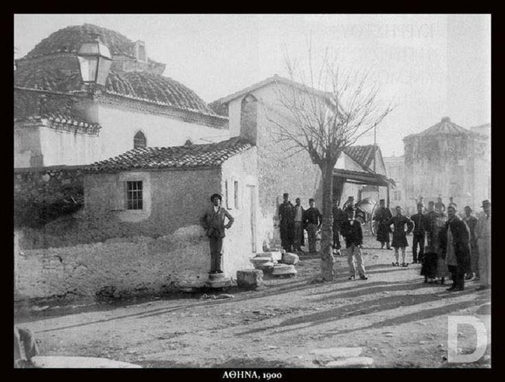 https://flic.kr/p/SsZPke | Ρωμαϊκή Αγορά | Η Ρωμαϊκή Αγορά με το Φετιχιέ Τζαμί και το Ωρολόγιο του Ανδρόνικου Κυρρήστου, περίπου 1900 Από Pinterest