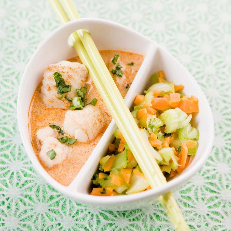 Découvrez la recette du curry rouge de poisson
