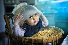 when the pasta is too good !
