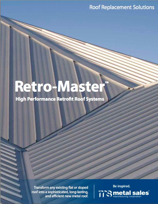 ... System That Easily And Affordably Transforms Any Old Or Failing Roof  Into A New, Sophisticated, Code Complaint And Energy Efficient Sloped Metal  Roof.