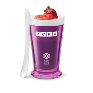 Awesome Gadgets And Gizmos: Zoku Slush and Shake Maker- Purple Perfect for the hot summer lazy days. The key is to put the beverage in, and leave it for a couple of minutes. Start scraping the sides and bottom with the spoon (which will be frozen), and then the rest of the drink will start freezing. http://awsomegadgetsandtoysforgirlsandboys.com/awesome-gadgets-and-gizmos/ Awesome Gadgets And Gizmos: Zoku Slush and Shake Maker- Purple
