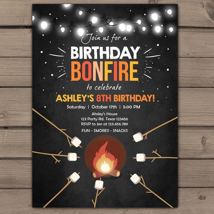 best 25 bonfire birthday party ideas on pinterest backyard bonfire party bonfire birthday and bonfire ideas - Bonfire Party Invitations