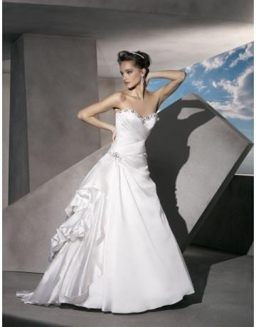 Prinsess Elegant & Lyxig Kristalldetalj Bröllopsklänningar 2013