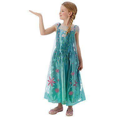 From 11.60:Elsa -disney Frozen Fever - Childrens Fancy Dress Costume - Medium - 116cm - Age 5-6