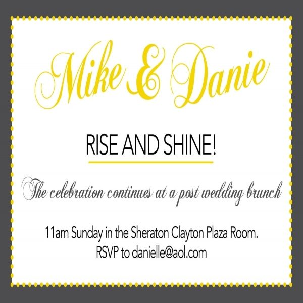 21 best Wedding brunch invite images on Pinterest Brunch