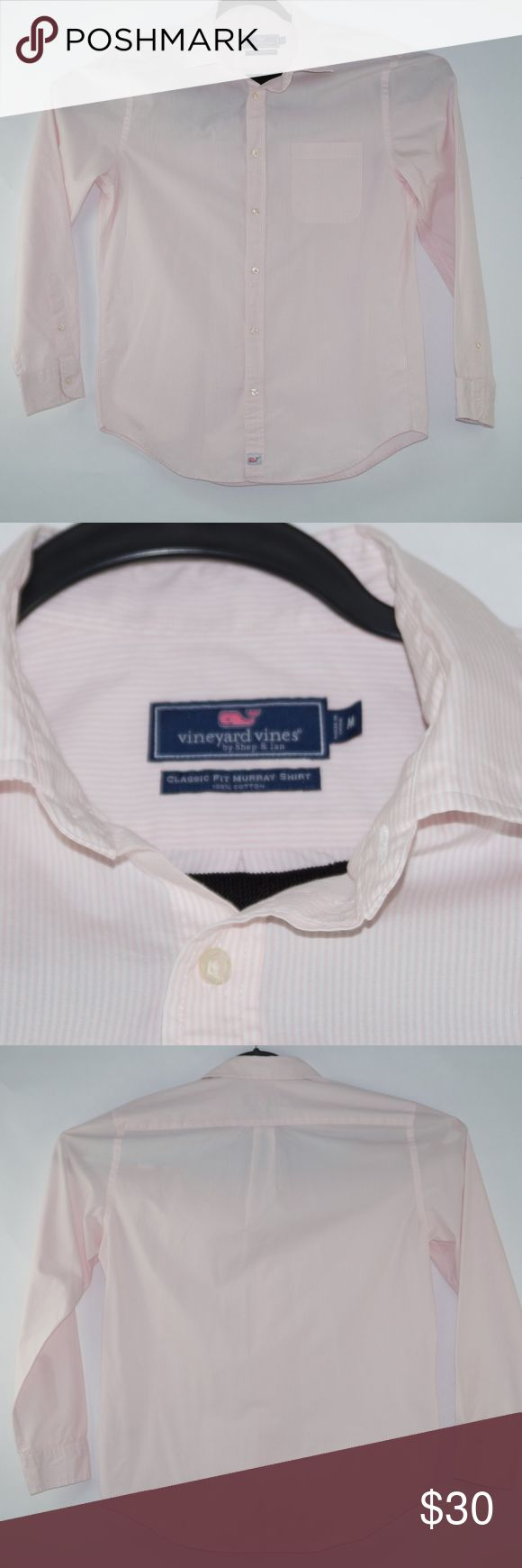 Vineyard Vines Mens Classic Fit Murray Shirt Sz M Pre-Owned Men's Long Sleeve Button Down Classic Fit Murray Pink and White Striped Size M by Vineyard Vines no rips no holes, Check Pictures Please check your measurements before purchasing! Please note actual color(s) may appear slightly different depending on screen resolution. 100% Cotton Measurements were taken lying flat and are approximate Chest   21