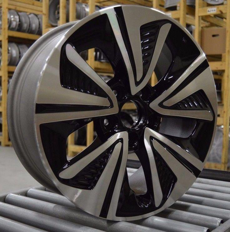 "17"" Honda Civic EX-T EX-L 2016 2017 Factory OEM Rim Wheel 64098 Black Machined #Motors #Parts #Accessories #560-64098"
