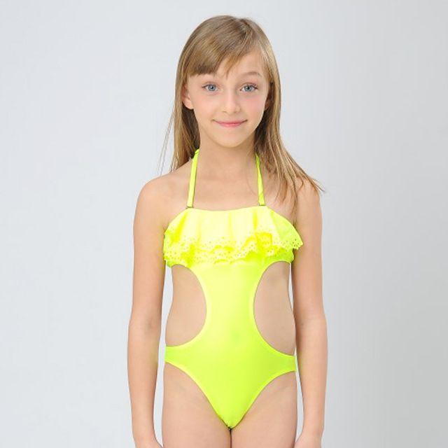 Hiheart 2015 meninas do bebê individualidade Swimsuit das meninas duas peças maiô crianças praia roupas de verão meninas de biquíni