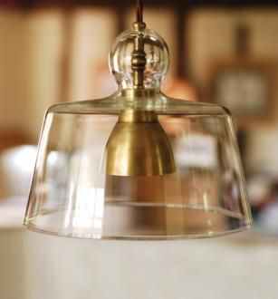 Where could I possibly put this ... love it! (Antiqued Brass Pendant Light | Lovell Glass Shade Pendant)