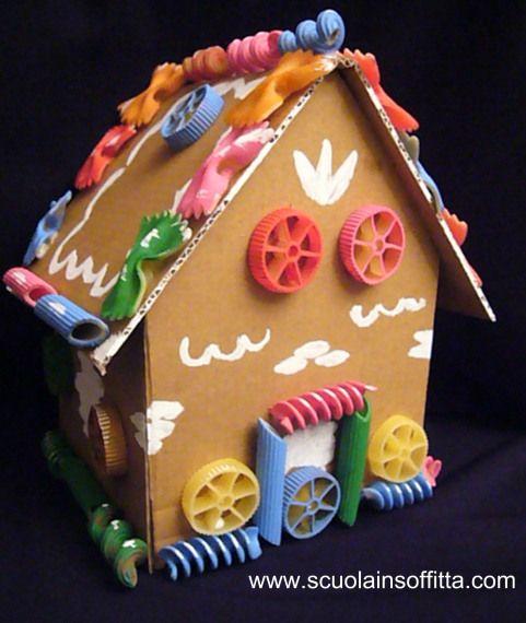 casella delle fiabe - Hansel & Gretel lavoretti con la pasta craft idea for kids