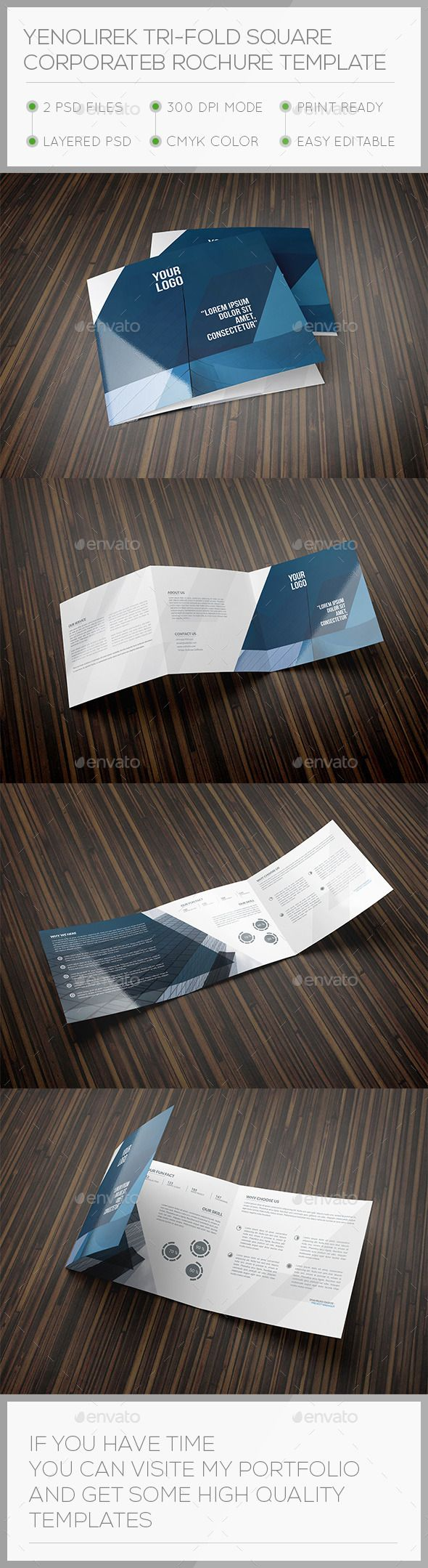 104 best tri fold images on pinterest advertising colours and yenolirek square trifold brochure template magicingreecefo Image collections