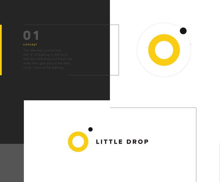 """Thanks for animation to Yaroslav Kononov - https://www.behance.net/yaroflasherLittle Drop logo. The idea was to show that the """"O"""" of BigDrop is the Earth. And the Little Drop is a moon that make their goal around the main circle - around the BigDrop."""