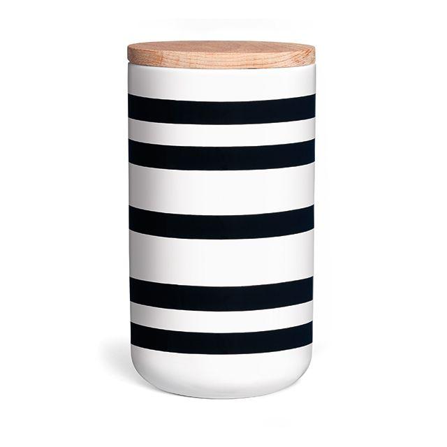 Black/White Storage Jar, large