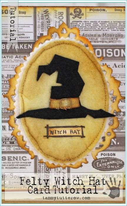 Tammy Tutterow Tutorial | Felty Witch Hat Card