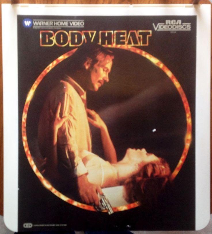 """Body Heat"" Vintage Video Disc CED - William Hurt Kathleen Turner Rated R / EUC"