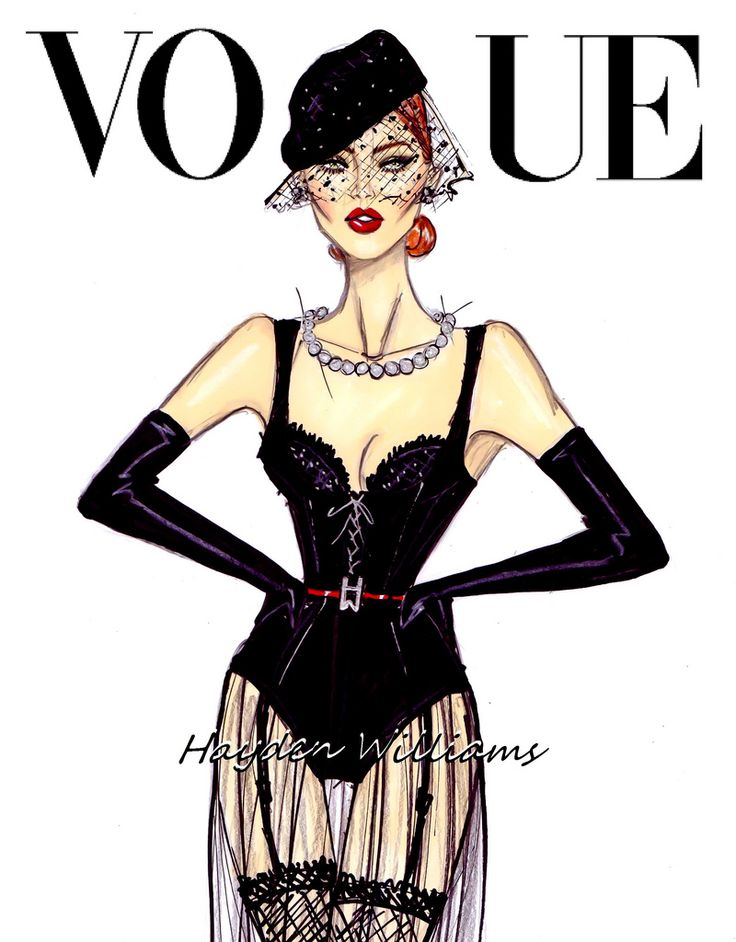 Hayden Williams Fashion Illustrations: Vogue: 'All Black Everything' by Hayden Williams
