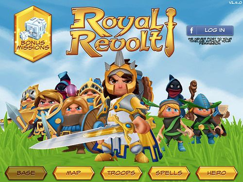 Royal Revolt! Main Menu: screenshots, UI