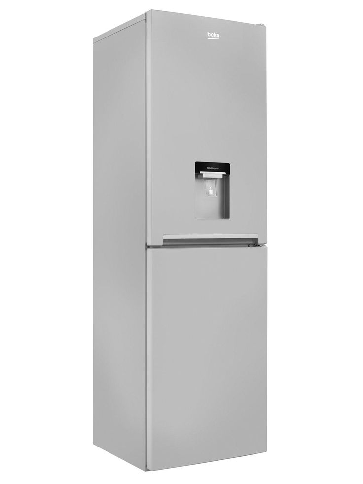 Beko CFG1582DS 55cm Frost Free Fridge Freezer with Water Dispenser - Silver This model automatically defrosts itself and has an anti-bacterial door seal and a water dispenser which doesn't require additional plumbing. It is also rated A+ for energy saving. Non Plumbed Water Dispenser.With the non-plumbed water dispenser, you have access to cool and refreshing water without the need to plumb anything in. A+ energy rated.This Beko appliance is A+ energy rated which means you can be assured ...