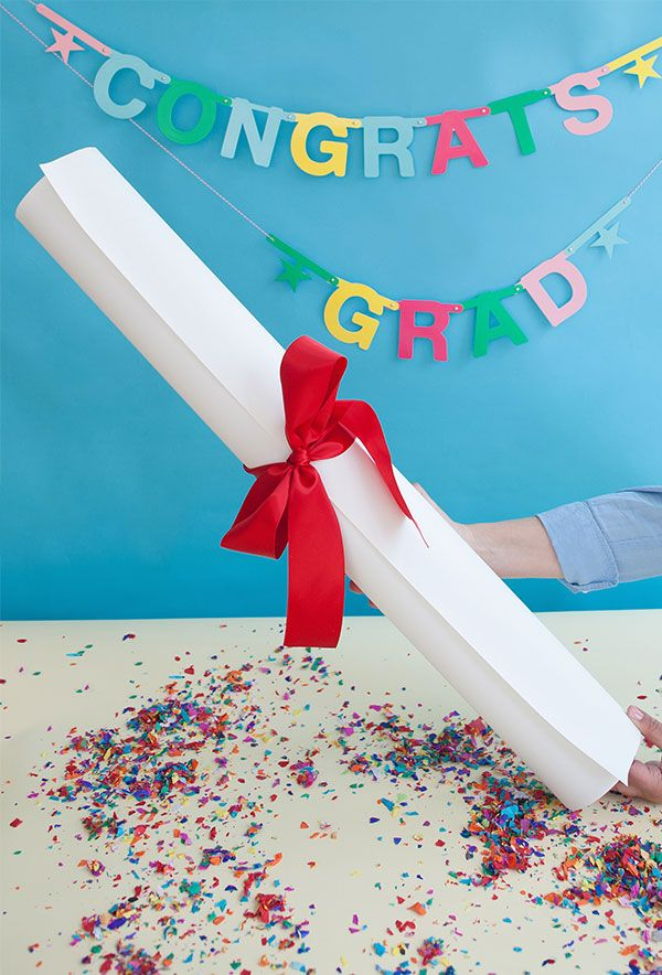 Giant Diploma Graduation Gift DIY