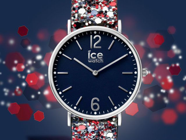 ICE madame: op-en-top vrouwelijk Het nieuwe horloge van ICE Watch, genaamd ICE madame, is een ware blikvanger. De band is volledig bedekt met glitters en geven het horloge letterlijk een vleugje glitter & glamour. Perfect voor een vrouw met een sterke persoonlijkheid. De ICE madame heeft een platte stalen kast en een gekleurde wijzerplaat. Op-en-top vrouwelijk. Kortom, een echte blikvanger.