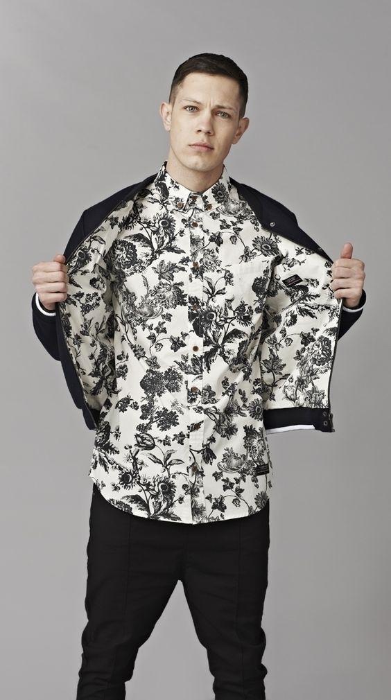 Amazing monochrome printed shirt linen ⋆ Men's Fashion Blog - TheUnstitchd.com