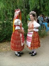 Palóc region costumes from Őrhalom. Halfway between Balassagyarmat and Szécsény