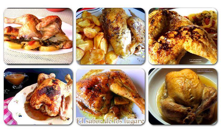 !! Al rico pollo asado !!Gusta a todos y siempre cómodo de hacer, .. ya que el que trabaja es el horno No te pierdas estas ricas recetas de pollo que he recopil