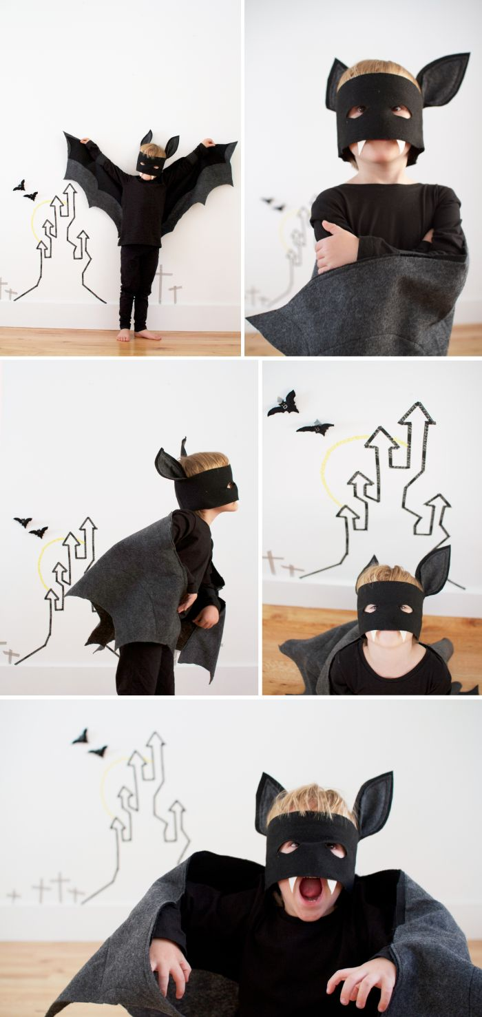 Bat costume-- I love the fanged mask!