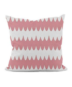 Look what I found on #zulily! Pink Geometric Throw Pillow by E by Design #zulilyfinds