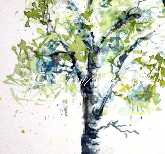 Aspen Tree watercolor  Aspen Tree Painting  by CheyAnneSexton: Aspen Trees, Watercolor Paintings, Bright Color, Fine Art, Limes Green, Trees Paintings, Art Is, Watercolor Aspen, Trees Watercolor