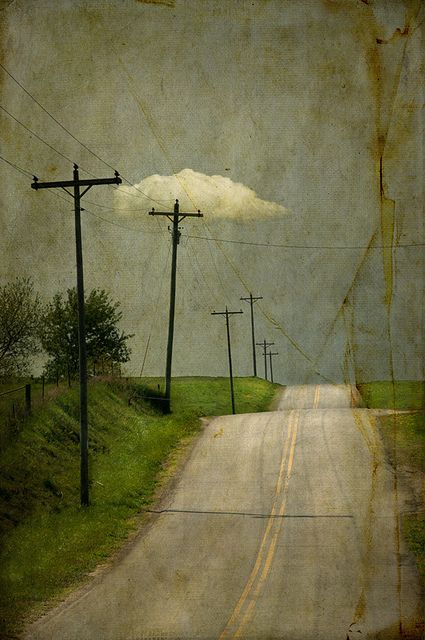 "Jamie Heiden: jack did as he was told..., via Flickr. ""more of this favorite road of mine... with favorite telephone poles and clouds. It's the road that cuts the corner on Cashton if any of you are from Western Wisconsin..."""