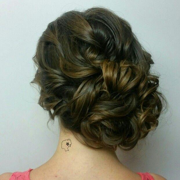 Www Melissamariehair Com Bridal Hair Wedding Hair Up: Curly Side Updo