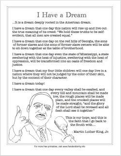 003 Free printable Martin Luther King, Jr.'s