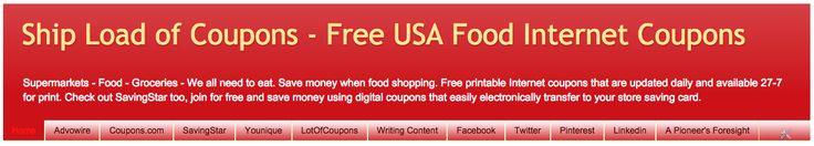Free USA Food Internet Coupons #freecoupons #printfreecoupons #coupons #coupon #ecoupons