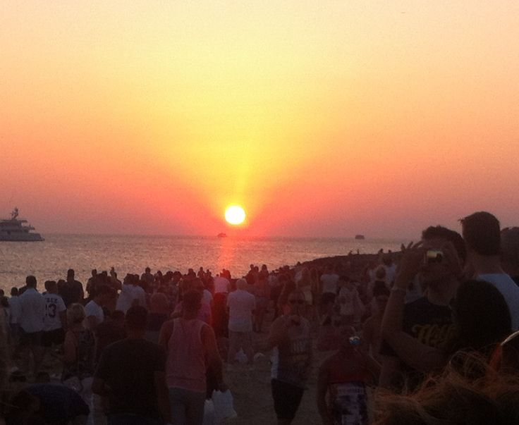 Sunset strip, San Antonio, Ibiza. First time I visited there was this July and it had such an amazing vibe