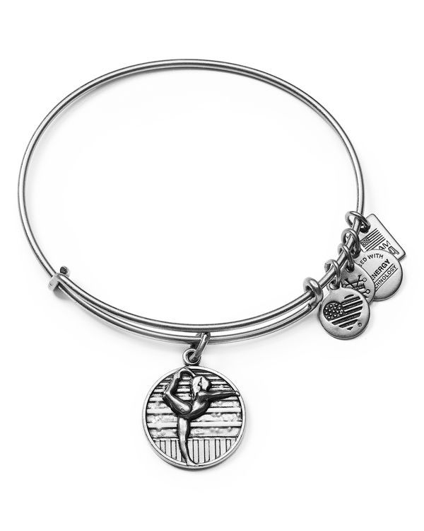 "Featuring a charm inspired by Team Usa Gymnastics, this Alex and Ani bangle makes a sporty statement. | Made in USA | 2.5"" diameter 