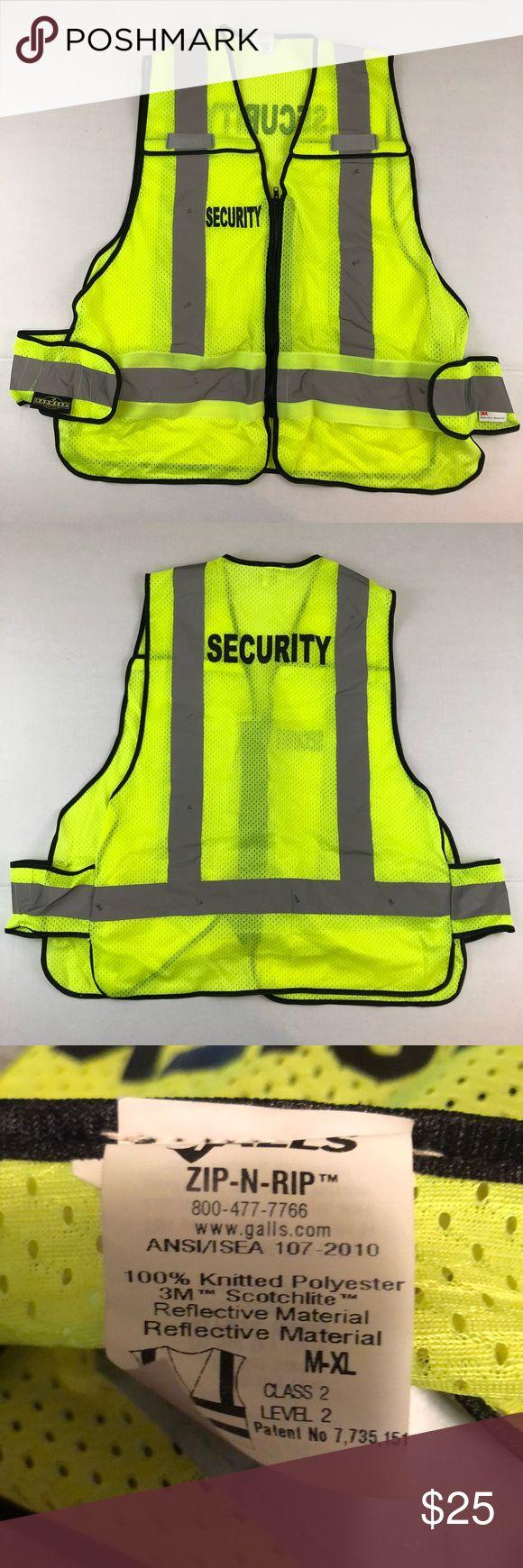 Security Mesh Vest Size medium XL. Adjustable side