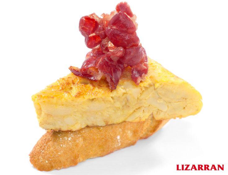 Tortilla con jamón #Lizarran #Pincho