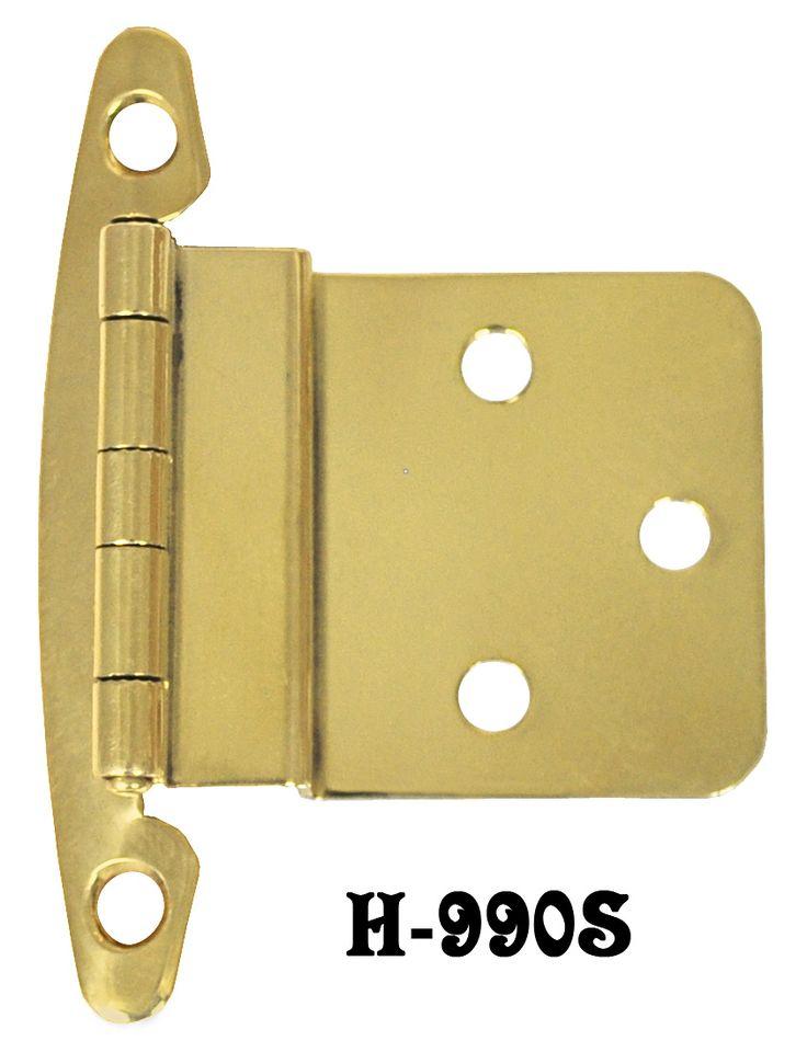 """Vintage Hardware & Lighting - Brass 3/8"""" Offset Hinges Pair (H-99OS)"""