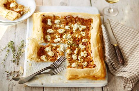This delicious Caramelised Onion and Goat's Cheese Tart makes the perfect starter for a Mother's Day feast.