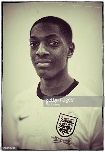 Marvin Sordell of England Under21s poses for a portrait at St Georges Park on March 19 2013 in BurtonuponTrent England