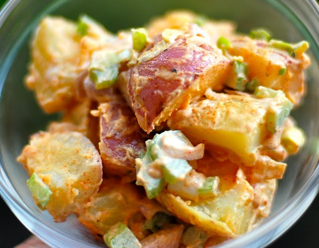 warm potato salad - so quick and yummy