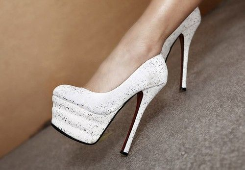 Glitter Yelour Leather High Heel platform Pumps on Chiq  $51.89 http://www.chiq.com/glitter-yelour-leather-high-heel-platform-pumps