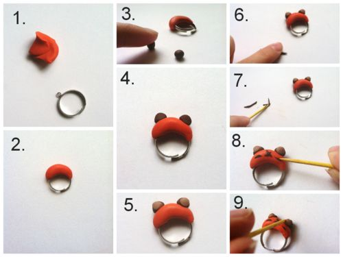 Ewok Polymer clay Ring Tutorial. Perect as a gift, party favor, or star wars day craft! Tumblr