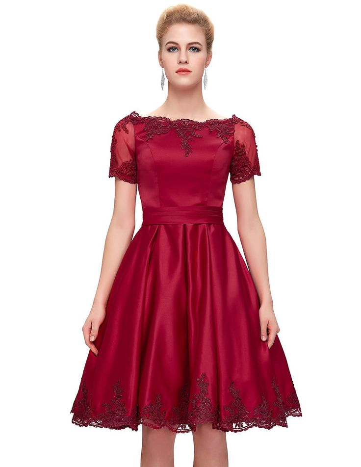 2017 Homecoming Short Mini Prom Cocktail Dresses Evening Party Bridesmaid Gown | #GraceKarin #BallGown #Cocktail