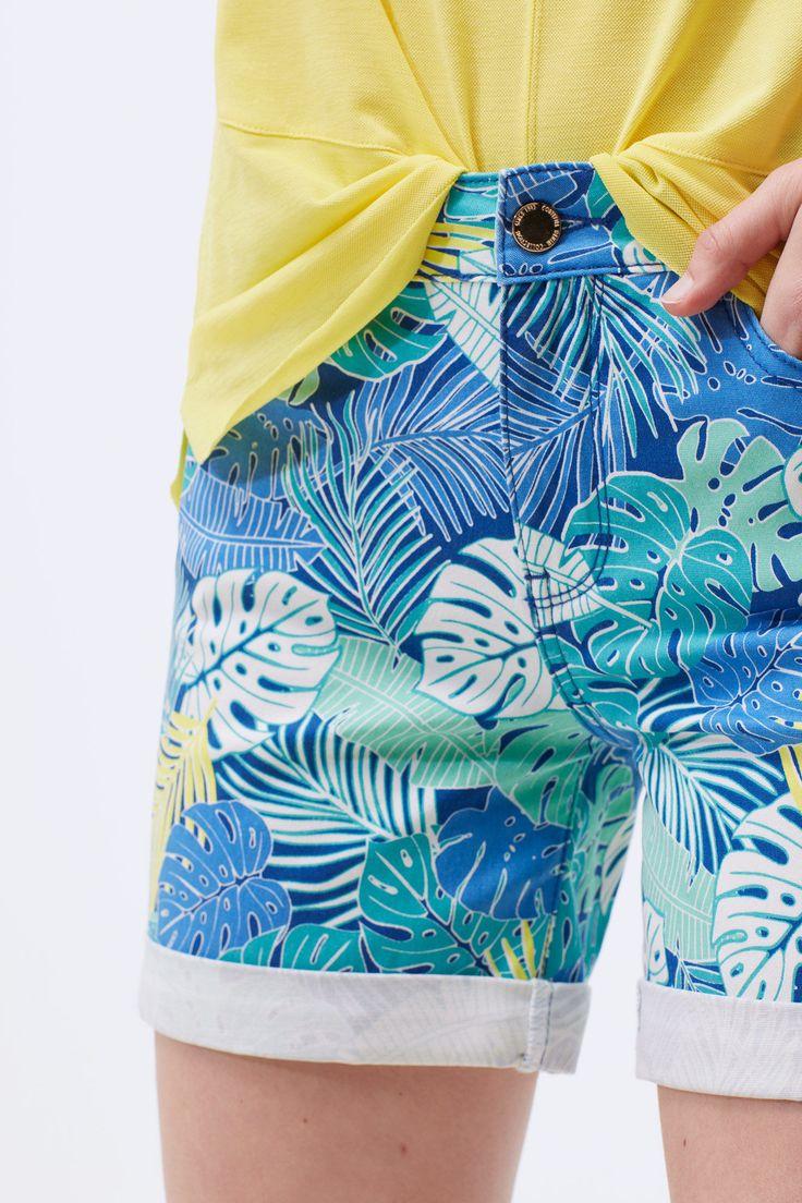 Short denim estampado | Shorts | Cortefiel