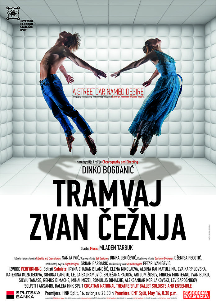 "Poster for Ballet ""A STREETCAR NAMED DESIRE"" Photo: Marijo Bašić, Design: Vladimir Resner"